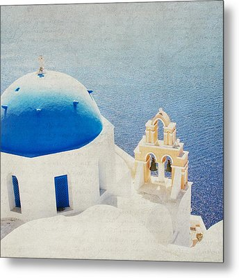 Metal Print featuring the photograph The Church - Santorini by Lisa Parrish