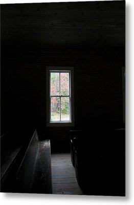 The Church Window Metal Print