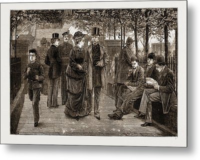 The Churchyard, St Metal Print by Litz Collection