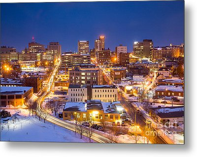 The City Electric - Portland Maine Metal Print by Benjamin Williamson