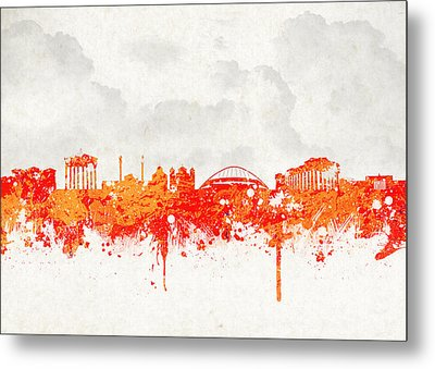 The City Of Athens Greece Metal Print by Aged Pixel