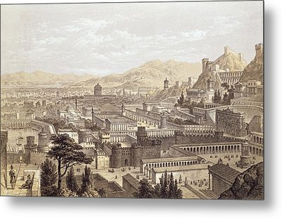 The City Of Ephesus From Mount Coressus Metal Print by Edward Falkener