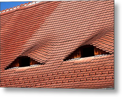 The City's Eyes Sibiu Hermannstadt Romania Metal Print by Daliana Pacuraru