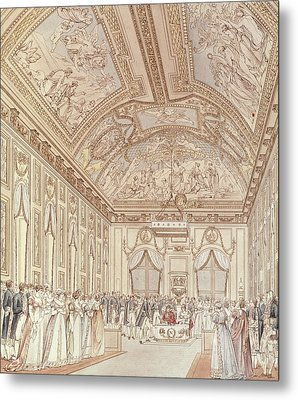 The Civil Ceremony Of The Marriage Of Napoleon Bonaparte 1769-1821 And Marie-louise 1791-1847 Metal Print