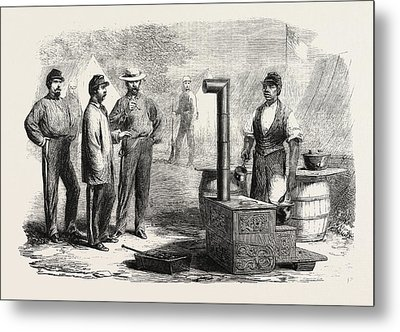 The Civil War In America Our Kitchen In The Camp Of The 2nd Metal Print by American School