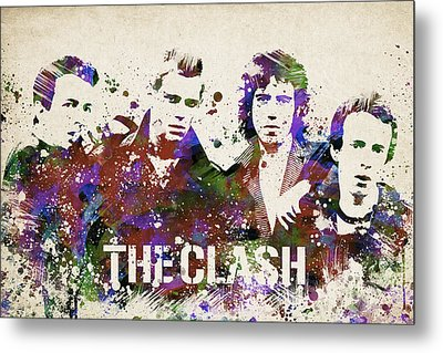 The Clash Portrait Metal Print