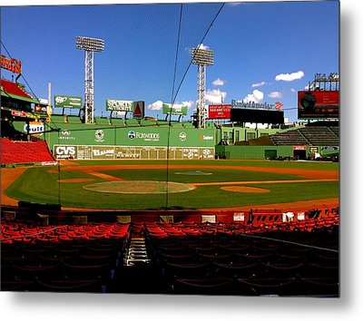 The Classic  Fenway Park Metal Print by Iconic Images Art Gallery David Pucciarelli
