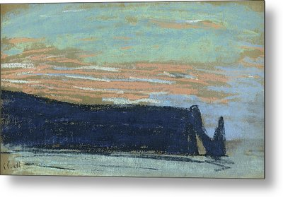 The Cliff At Etretat, C.1885 Pastel Metal Print