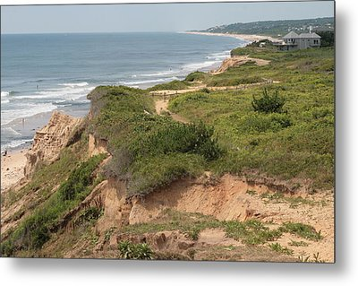 The Cliffs Of Montauk Looking West Metal Print
