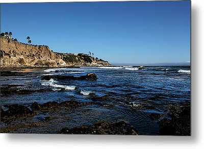 The Cliffs Of Pismo Beach Metal Print by Judy Vincent