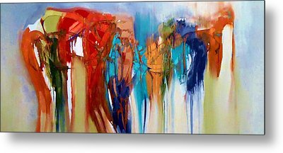 Metal Print featuring the painting The Closet by Lisa Kaiser