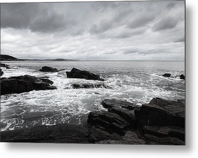 The Cloudy Day In Acadia National Park Maine Metal Print
