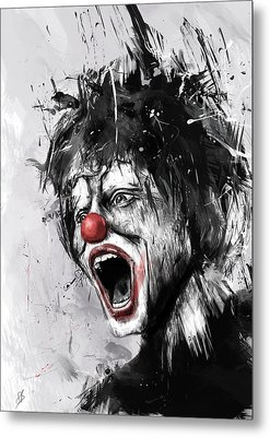 The Clown Metal Print by Balazs Solti
