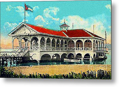 The Club Nautico In Santiago Cuba In 1910 Metal Print