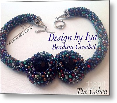 Metal Print featuring the jewelry The Cobra by Iya Carson