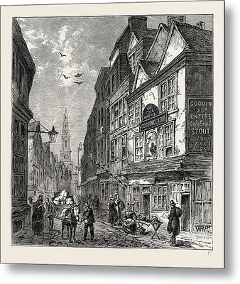 The Cock And Magpie, Drury Lane, 1840, London Metal Print