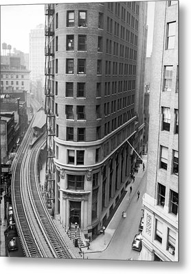The Cocoa Exchange Building  Metal Print by Underwood Archives