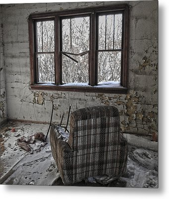 The Cold Remains  Metal Print by Empty Wall