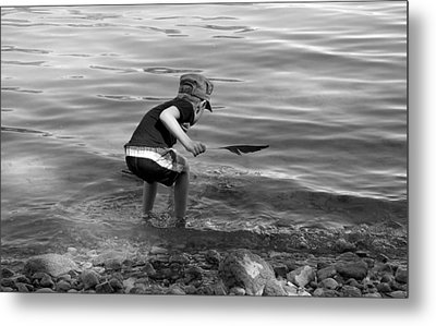 Metal Print featuring the photograph  The Collector by Debbie Oppermann