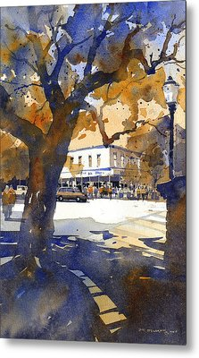 The College Street Oak Metal Print by Iain Stewart