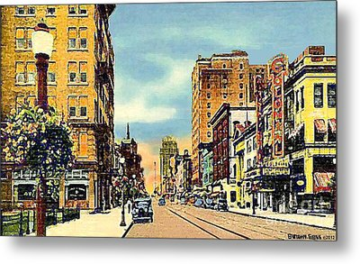 The Colonial Theatre On Hamilton St. In Allentown Pa Around 1935 Metal Print