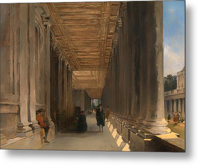 The Colonnade Of Queen Mary's House In Greenwich Metal Print