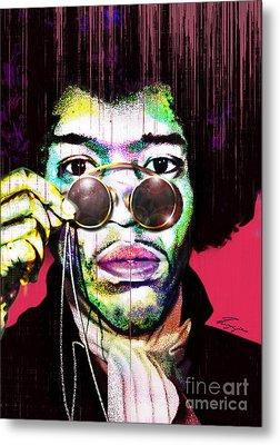 The Color Of Rock - Jimi Hendrix Series Metal Print by Reggie Duffie