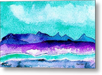 Metal Print featuring the painting The Colorado River by Anne Duke