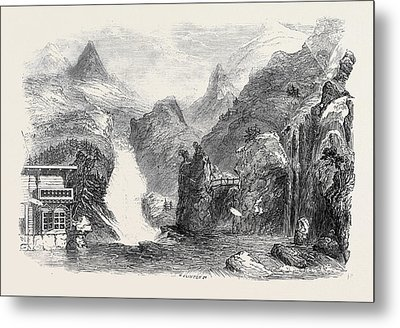 The Colosseum The Chalet, Mer De Glace, Mont Blanc Metal Print by English School