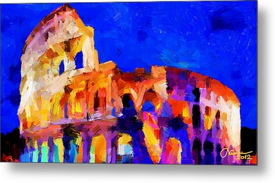 The Colosseum Tnm Metal Print by Vincent DiNovici
