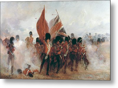 The Colors Advance Of The Scots Guards At The Alma Metal Print