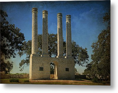 The Columns Of Old Baylor At Independence -- 3 Metal Print by Stephen Stookey