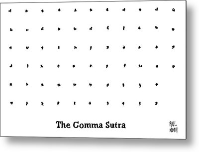 The Comma Sutra. Images Of Commas In Different Metal Print