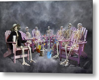 The Committee Reaches Enlightenment Metal Print