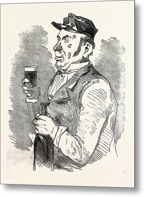The Concierge Of The Roche-noire Castle Drinking Metal Print by French School