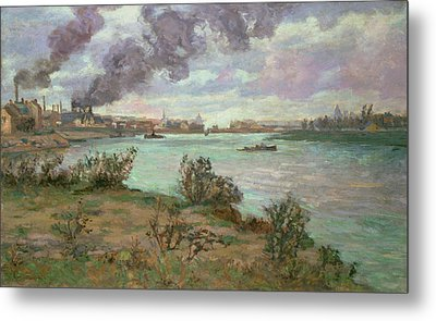 The Confluence Of The Seine And The Marne At Ivry Metal Print by Jean Baptiste Armand Guillaumin