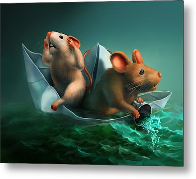 The Conspicuous Failure Of The Paper Boat Experts Metal Print