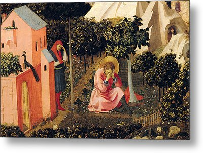 The Conversion Of Saint Augustine Metal Print by Fra Angelico
