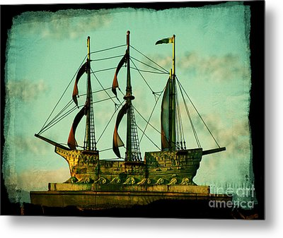 The Copper Ship Metal Print by Colleen Kammerer