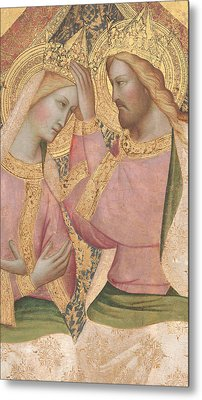 The Coronation Of The Virgin Metal Print by Agnolo Gaddi