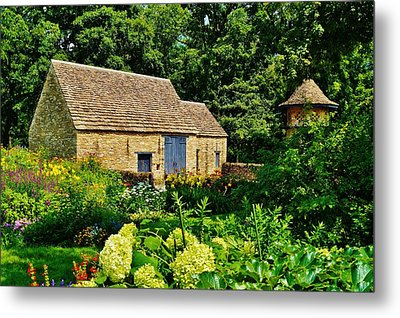 The Cotswald Barn And Dovecove Metal Print