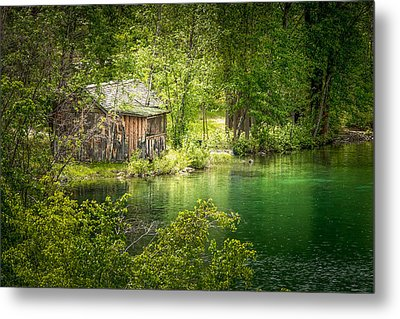 The Cottage By The Lake Metal Print