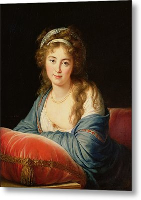 The Countess Catherine Vassilievna Skavronskaia Metal Print by Elisabeth Louise Vigee-Lebrun