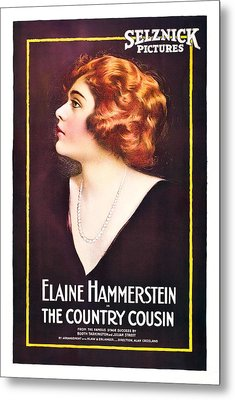 The Country Cousin, Elaine Hammerstein Metal Print by Everett