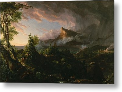 The Course Of Empire The Savage State  Metal Print by Thomas Cole