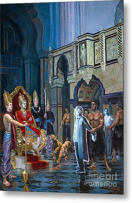 The Court Of Yamaraja Metal Print by Dominique Amendola