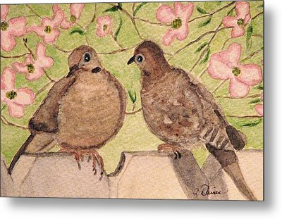 The Courtship Metal Print by Angela Davies