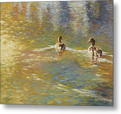 The Courtship Metal Print by Gini Heywood