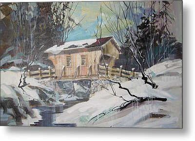 The Covered Bridge Metal Print by Clifford Knoll