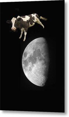 The Cow Jumped Over The Moon Metal Print by John Short